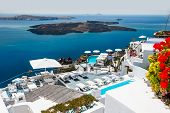 image of greek-architecture  - Luxury hotel with sea view - JPG