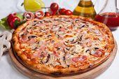 image of italian food  - Pizza on wood - JPG