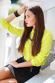 pic of straight jacket  - Beautiful girl oriental appearance - JPG