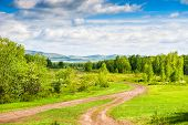 pic of ural mountains  - Beautiful summer landscape with forest and mountains - JPG