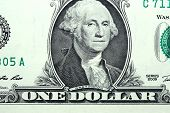 picture of fulcrum  - Closeup of ordinary One Dollar Bill fragment with Washington portrait at center - JPG