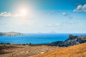 image of greek-island  - Sea view on the Greek Islands - JPG