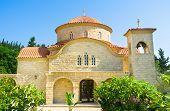picture of larnaca  - The modern church of the St George monastery located next to Larnaca Cyprus - JPG