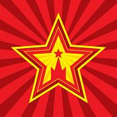 picture of symbols  - Star with Kremlin symbol  - JPG