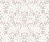 stock photo of damask  - Damask  floral pattern with arabesque and oriental pink elements - JPG