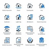 stock photo of insurance-policy  - This set contains 16 property insurance icons that can be used for designing and developing websites - JPG