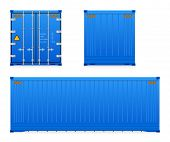 picture of containers  - Set of cargo container isolated on white background - JPG