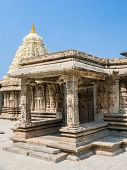 picture of karnataka  - The outside of the shrines of Keshava at the 13th Century temple of Somanathapur - JPG
