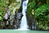 stock photo of south east asia  - Rainforest waterfall in tropical climates in south east asia - JPG