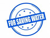 image of save water  - Stamp with text for saving water inside vector illustration - JPG