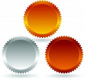 picture of starburst  - Colorful badges - JPG