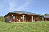 picture of chalet  - a holiday wooden chalet in the countryside - JPG
