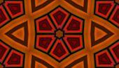 foto of kaleidoscope  - Seamless pattern with red abstract motif like a kaleidoscope - JPG