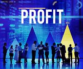 stock photo of proceed  - Profit Benefit Accounting Gain Finance Income Concept - JPG