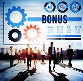 foto of profit  - Bonus Profit Salary Finance Income Money Concept - JPG