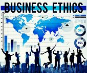 pic of morals  - Business Ethics Moral Responsibility Business Concept - JPG