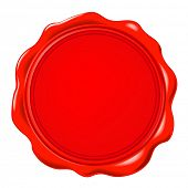 picture of wax seal  - vector wax seal  - JPG
