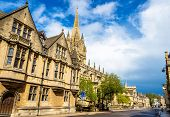 stock photo of church-of-england  - University Church of St Mary the Virgin in Oxford England - JPG