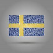 picture of sweden flag  - Sweden flag - JPG