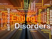 pic of anorexia nervosa  - Background concept wordcloud illustration of eating disorders glowing light - JPG