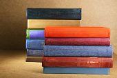 foto of book-shelf  - Old books on shelf - JPG