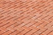 picture of paving  - Red paving stones as background close up - JPG