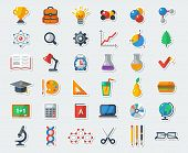 ������, ������: Flat School Icons Vector Collection