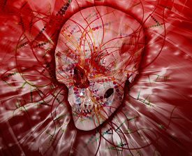 stock photo of occult  - Abstract background digital collage concept illustration occult magic - JPG