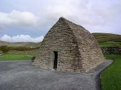 stock photo of corbel  - the gallarus oratory in county kerry ireland - JPG