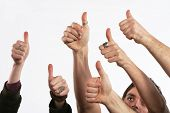 image of thumbs-up  - cheering concept symbols - JPG