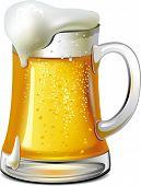 pic of beer mug  - Glass of cold beer with foam - JPG