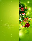 image of christmas wreath  - Christmas background vector image - JPG