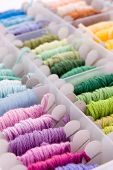 stock photo of rayon  - Thread pattern - JPG