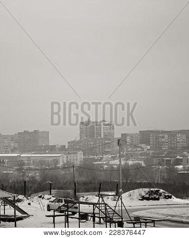 City landscape Outskirts