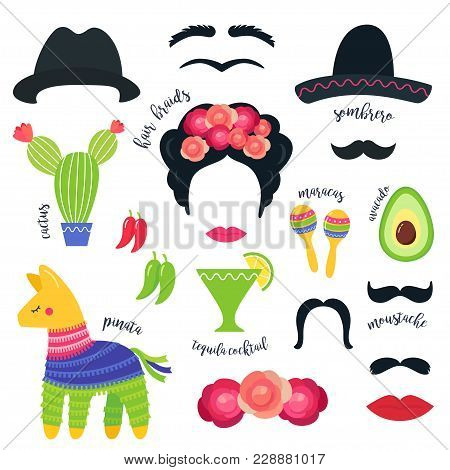 Mexican Fiesta Party Symbols And