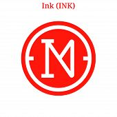Vector Ink (ink) Digital Cryptocurrency Logo. Ink (ink) Icon. Vector Illustration Isolated On White  poster