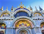 Christ Resurrection Mosaic Saint Marks Church Venice Italy poster
