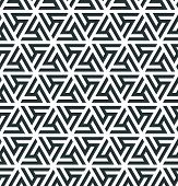Abstract Geometric Pattern. Pattern Of A Triangular Ornament For Creating An Endless Background. Mod poster