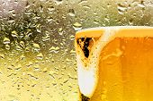 Cold Mug Beer Beer Mug Pub Yellow Background poster