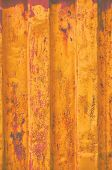 Yellow Grunge Sea Freight Container Background, Dark Rusty Corrugated Pattern, Red Primer Coating, V poster