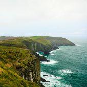 Irish Landscape. Coastline Atlantic Ocean Rocky Coast Scenery. County Cork, Ireland Europe poster