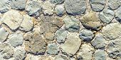 Texture - Masonry Of The Ancient City Square. Can Be Used As A Background Or Wallpaper. poster