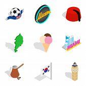 New Horizon Icons Set. Isometric Set Of 9 New Horizon Vector Icons For Web Isolated On White Backgro poster