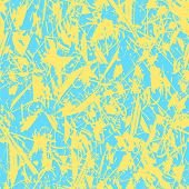 Vector Abstract Spring Or Summer Background. Grunge Seamless Pattern. Blue And Yellow. Abstract Vect poster