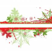 image of christmas flower  - Christmas tree winter background art illustration element for design - JPG