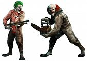 Killer Clowns About To Attack 3d Illustration poster