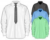 image of button down shirt  - Vector illustration of dress shirt  - JPG