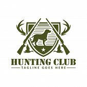 Deer Or Duck Hunting Logo, Hunting Badge Or Emblem For Hunting Club And Sports poster