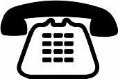 Telephone Vector On White Background Talk, Technology, Telephone. poster