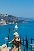 Menton France. 17 June 2019. An Elevated View Over Menton In France poster